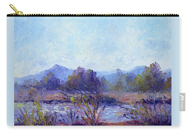 Art Carry-all Pouch featuring the painting Santa Ana River by Terry Chacon