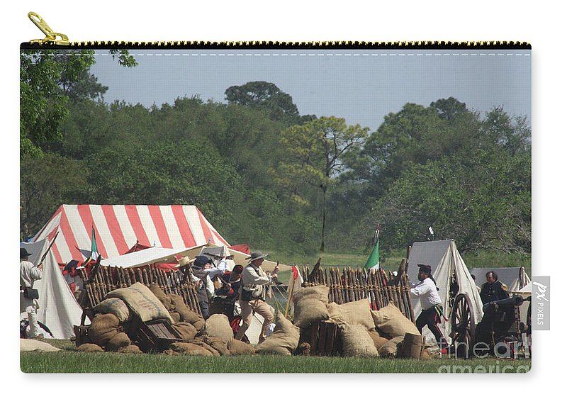 Battle At San Jacinto Carry-all Pouch featuring the photograph Santa Anna's Camp by Kim Henderson