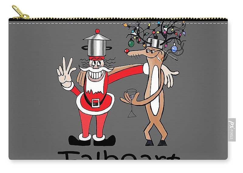 Santa Carry-all Pouch featuring the painting Santa by Anthony Falbo