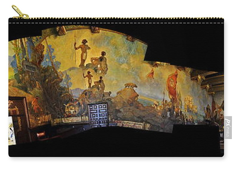 Clay Carry-all Pouch featuring the photograph Santa Barbara Hall Of Murals by Clayton Bruster
