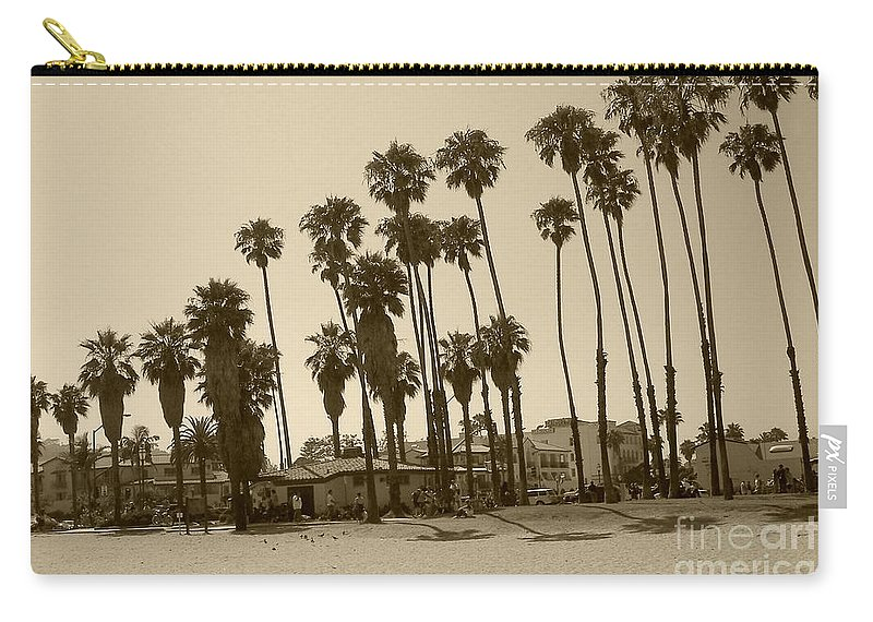 Palm Trees Carry-all Pouch featuring the photograph Santa Barbara Palms by Debbi Granruth