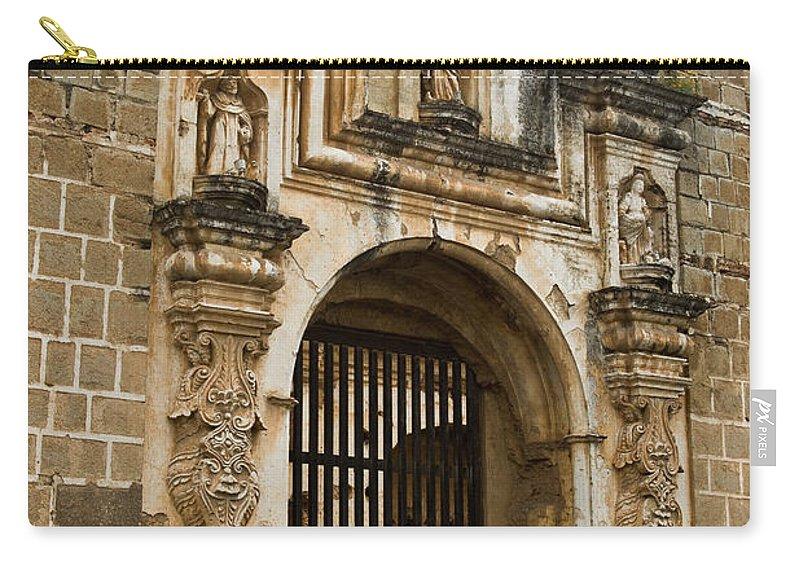 Santa Carry-all Pouch featuring the photograph Santa Clara Antigua Guatemala Ruins 2 by Douglas Barnett