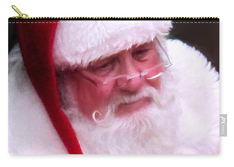 Santa Clause Carry-all Pouch featuring the digital art Santa Clause by Ian MacDonald