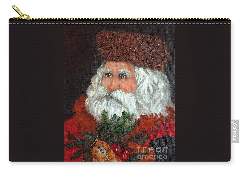 Santa Carry-all Pouch featuring the painting Santa by Portraits By NC