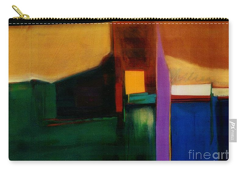 Abstract Carry-all Pouch featuring the painting Santa Fe 1 Break Loose by Marlene Burns