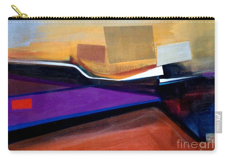 Abstract Carry-all Pouch featuring the painting Santa Fe 2 Let Loose by Marlene Burns