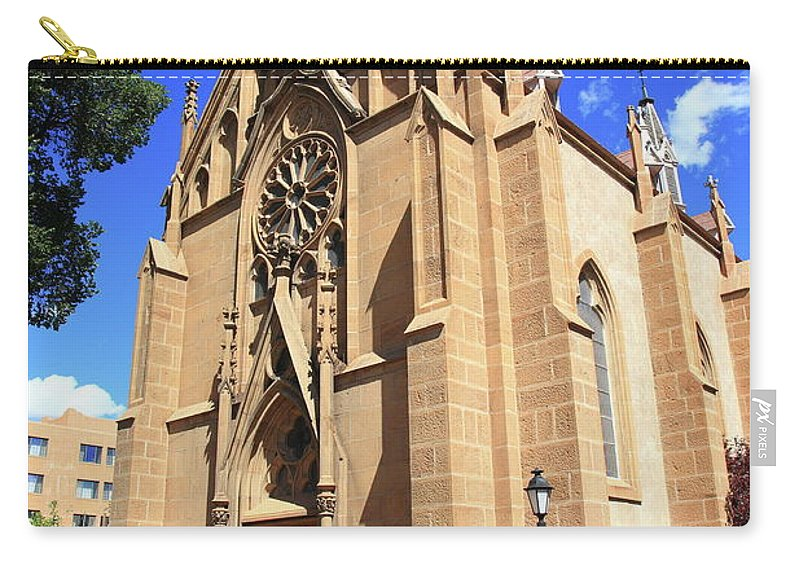 Fine Carry-all Pouch featuring the photograph Santa Fe Church by Frank Romeo