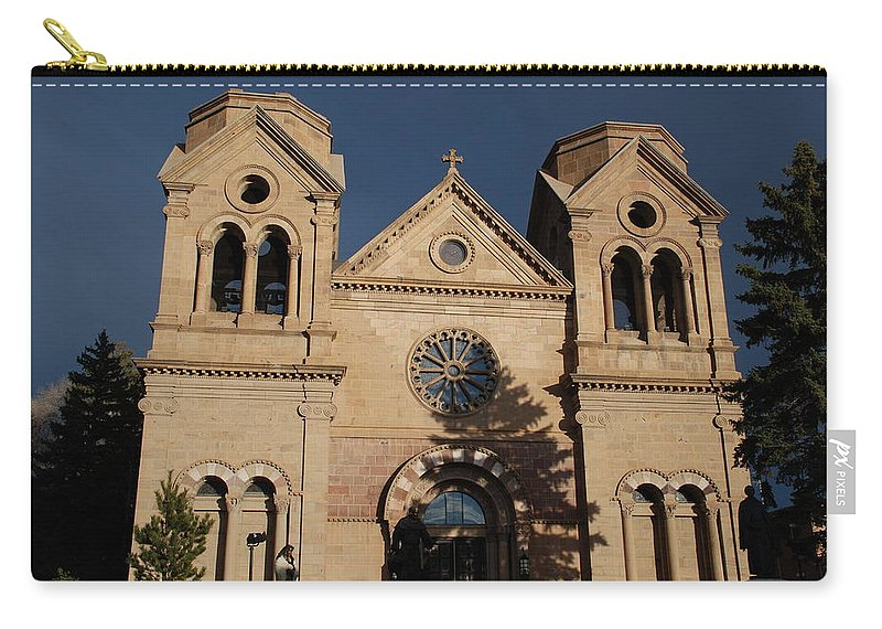 Architecture Carry-all Pouch featuring the photograph Santa Fe Church by Rob Hans