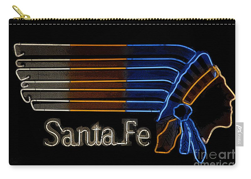 Art Carry-all Pouch featuring the painting Santa Fe Indian by David Lee Thompson