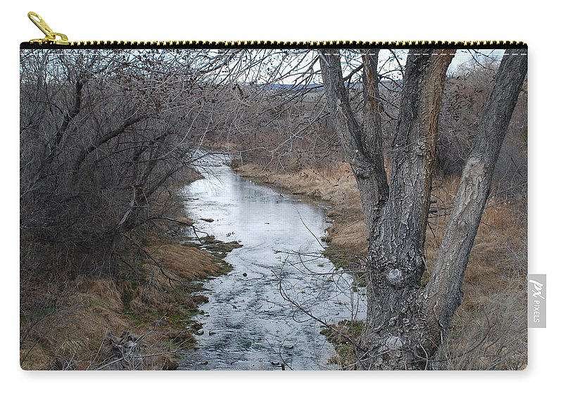 Santa Fe Carry-all Pouch featuring the photograph Santa Fe River by Rob Hans