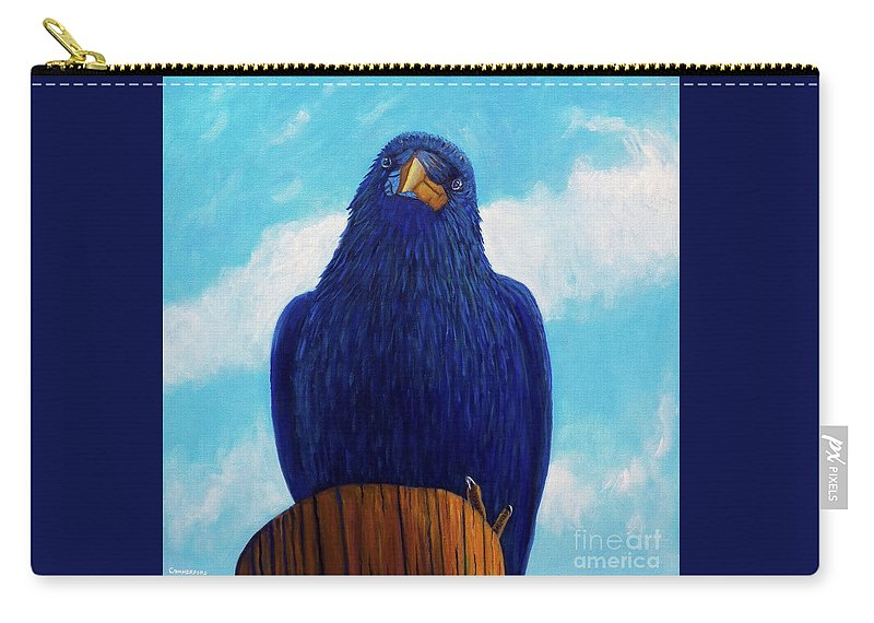 Raven Carry-all Pouch featuring the painting Santa Fe Smile by Brian Commerford