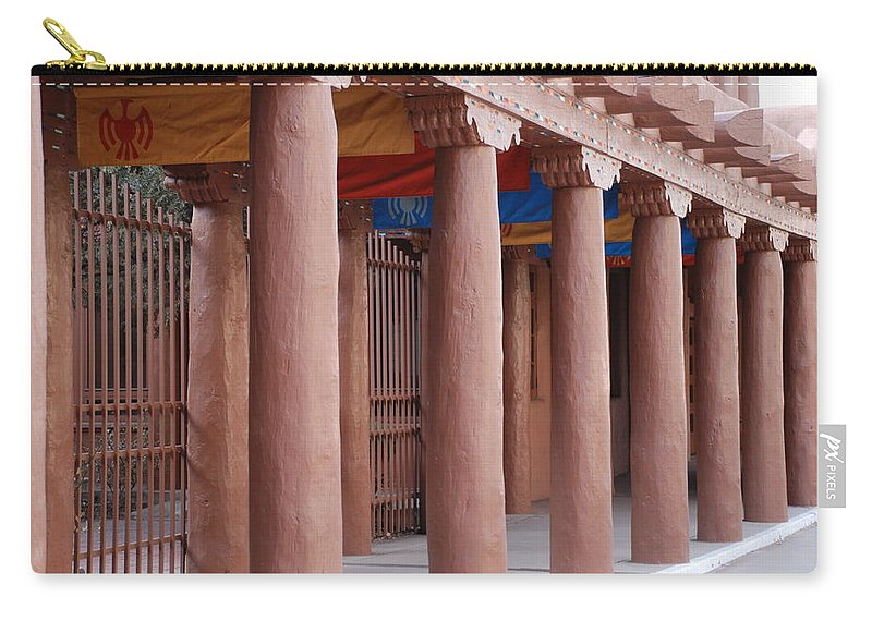 Adobe Carry-all Pouch featuring the photograph Santa Fe Street by Rob Hans