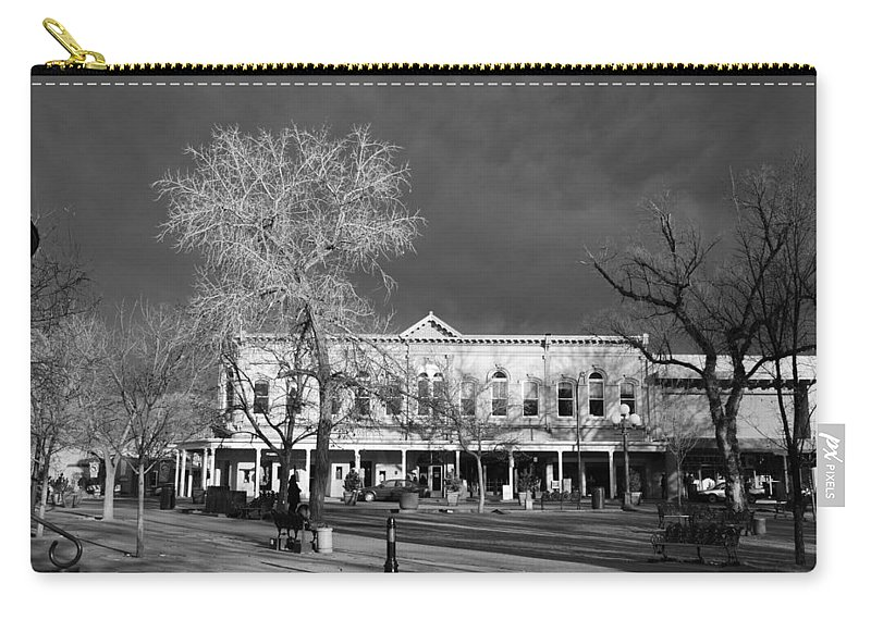 Santa Fe Carry-all Pouch featuring the photograph Santa Fe Town Square by Rob Hans