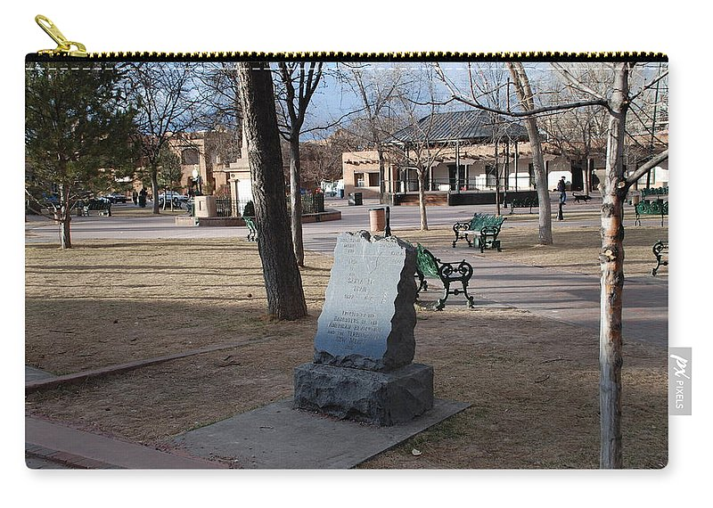 Parks Carry-all Pouch featuring the photograph Santa Fe Trail Marker by Rob Hans