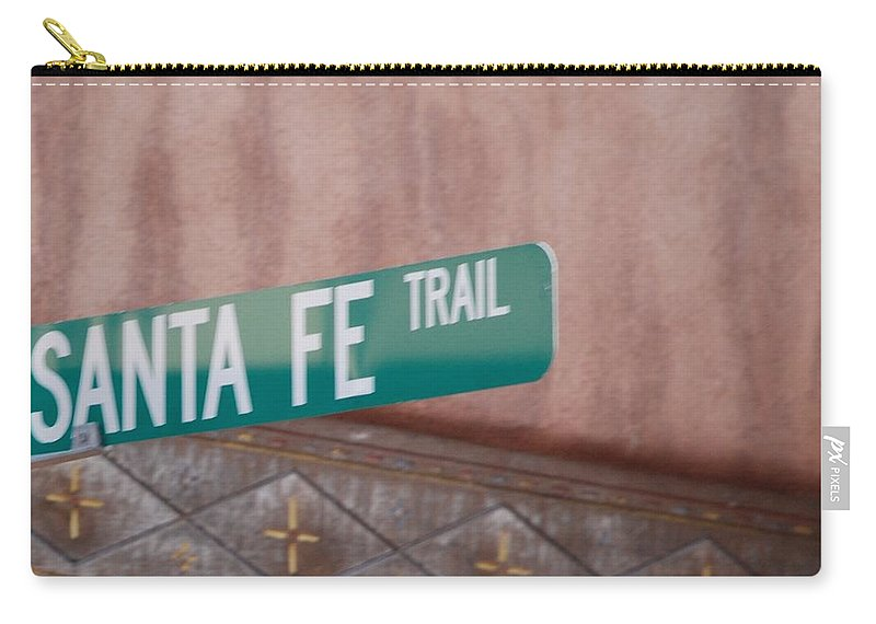 Santa Fe Carry-all Pouch featuring the photograph Santa Fe Trail by Rob Hans