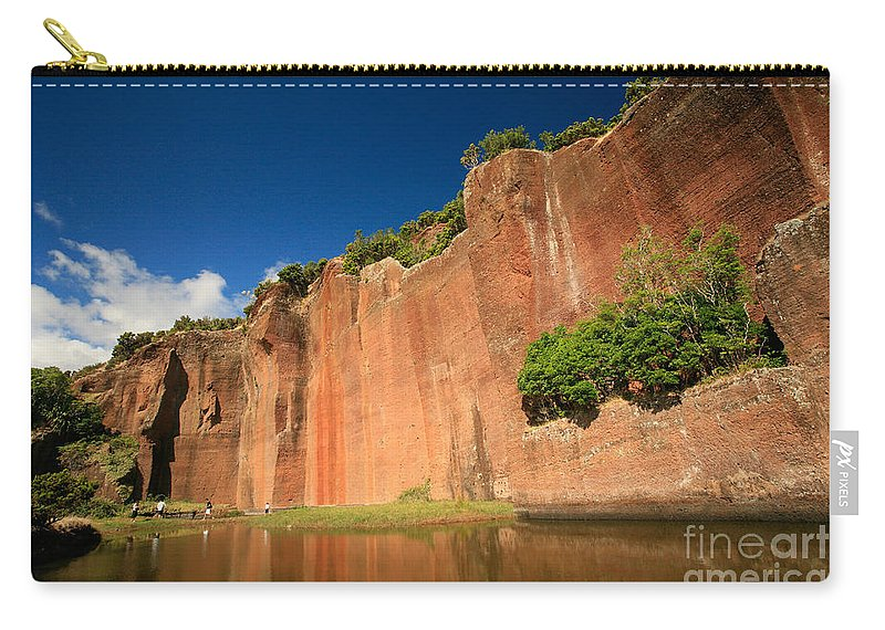 Walls Carry-all Pouch featuring the photograph Santa Maria Azores by Gaspar Avila