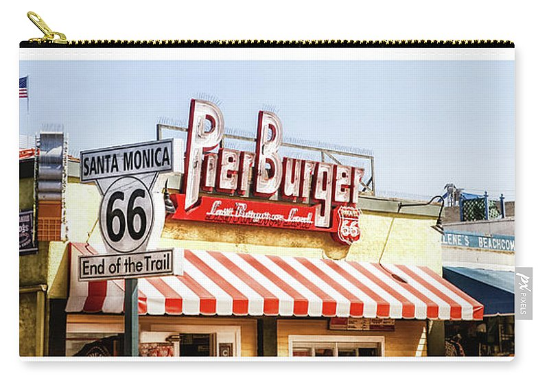 Santa Monica Carry-all Pouch featuring the photograph Santa Monica Pier by Cate O'Donnell