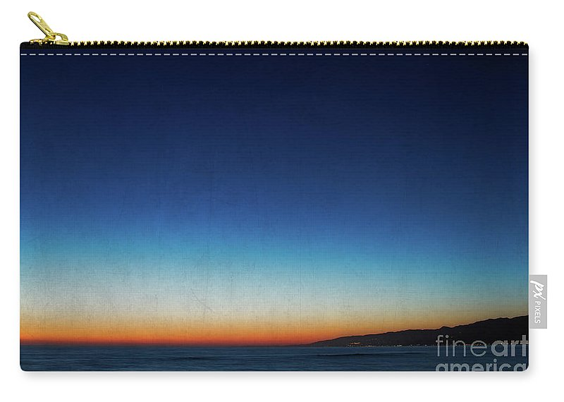 Santa Monica Carry-all Pouch featuring the photograph Santa Monica Sunset 1 by Doug Sturgess