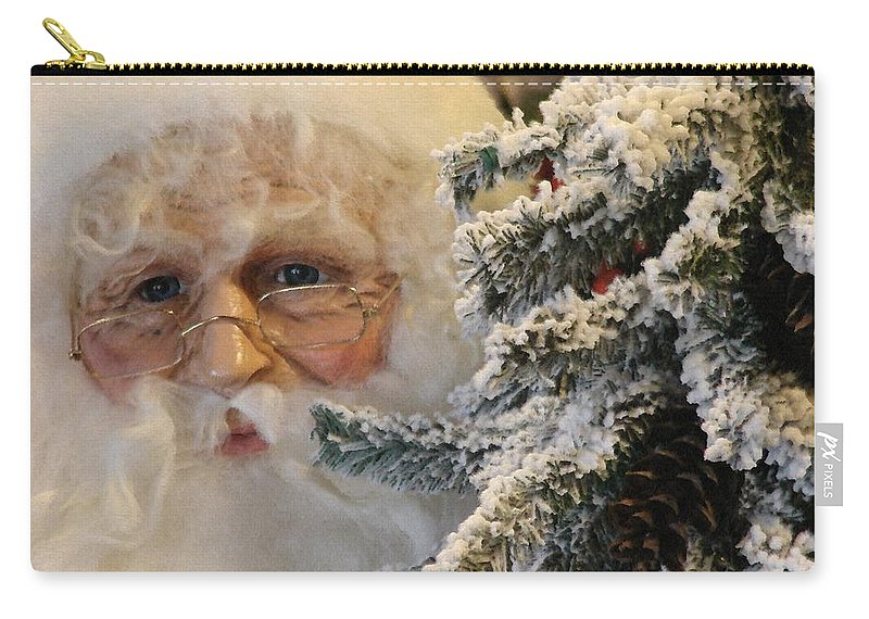 Santa Claus Carry-all Pouch featuring the photograph Santa Sees You by Bob Carey