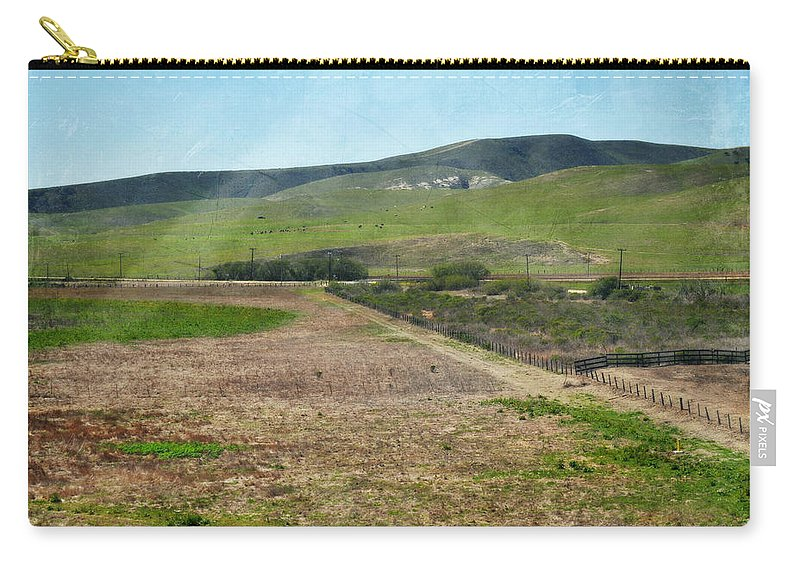 San Luis Obispo Carry-all Pouch featuring the photograph Santa Ynez Mountains Green Hills Ranch by Kyle Hanson