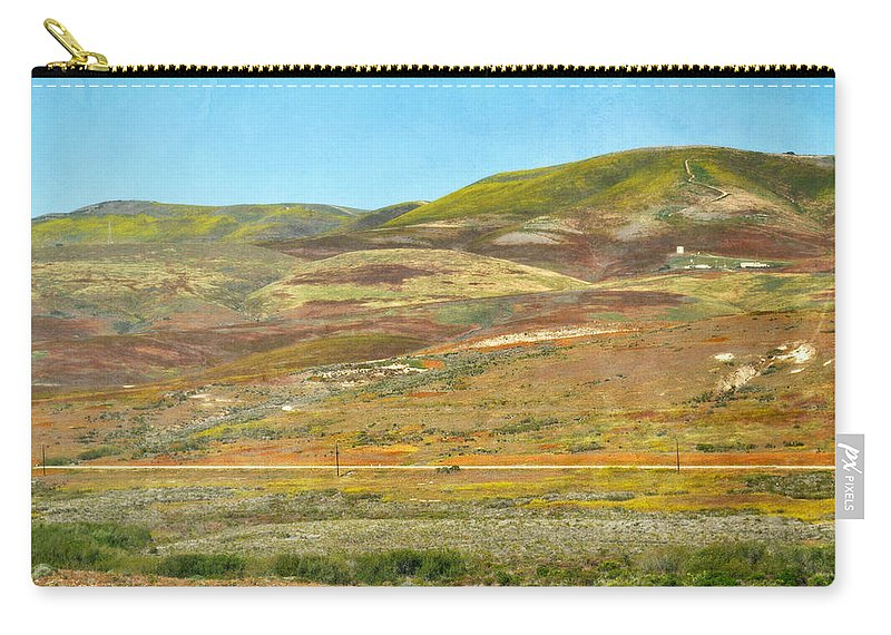 San Luis Obispo Carry-all Pouch featuring the photograph Santa Ynez Mountains Wildflowers by Kyle Hanson