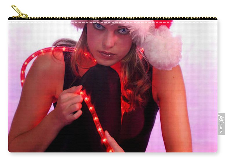 Clay Carry-all Pouch featuring the photograph Santas Helper by Clayton Bruster