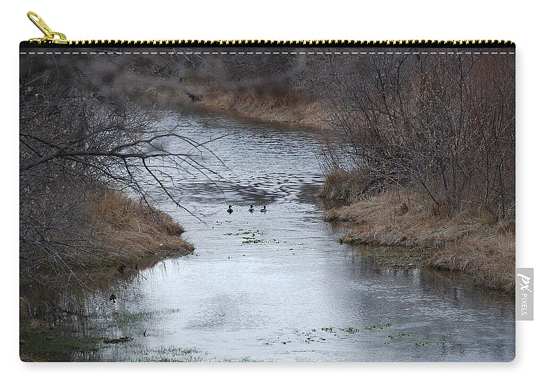 Birds Carry-all Pouch featuring the photograph Sante Fe River by Rob Hans