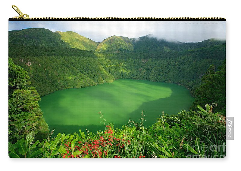 Azores Carry-all Pouch featuring the photograph Santiago Lake by Gaspar Avila