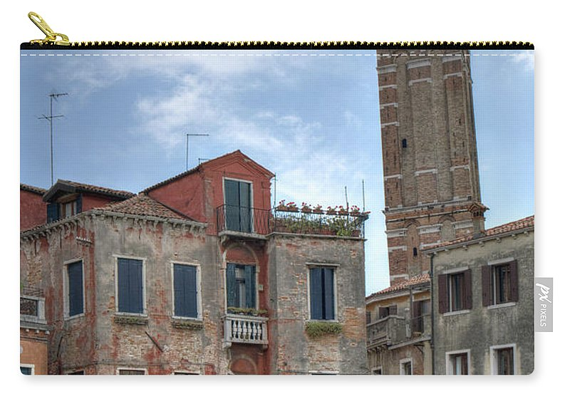 Italy Carry-all Pouch featuring the photograph Santo Stefano Venice Leaning Tower by Alan Toepfer