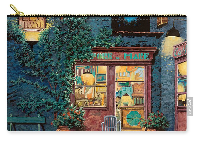 Courtyard Carry-all Pouch featuring the painting Sapore Di Mare by Guido Borelli