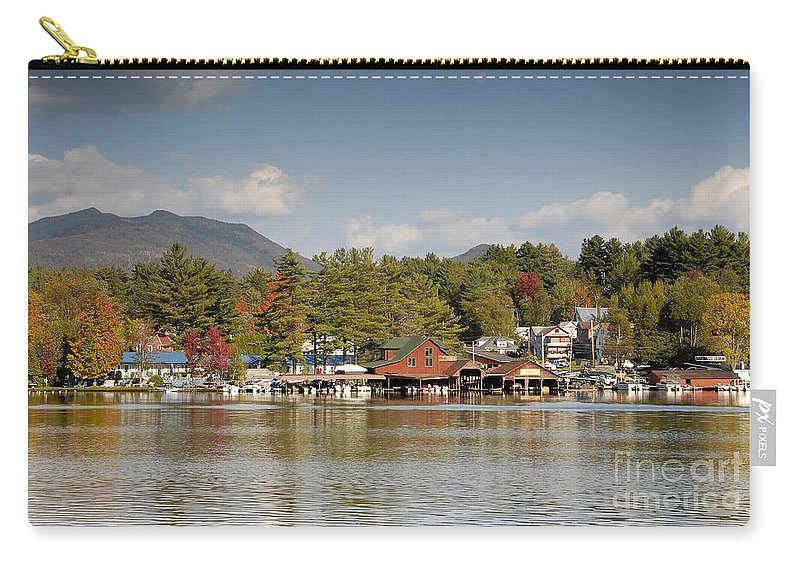 Saranac Lake New York Carry-all Pouch featuring the photograph Saranac Lake by David Lee Thompson