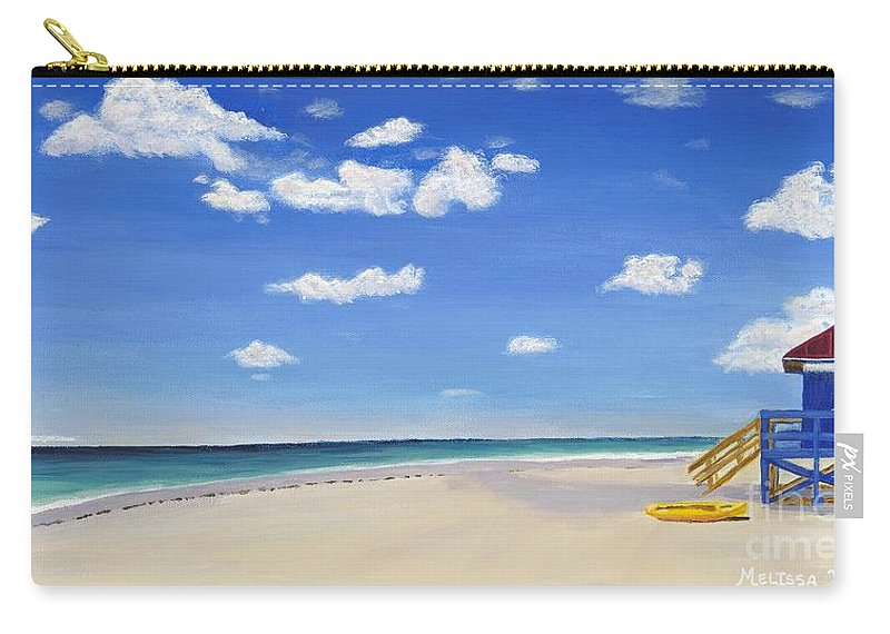 Landscape Carry-all Pouch featuring the painting Sarasota Beach by Melissa Wallace