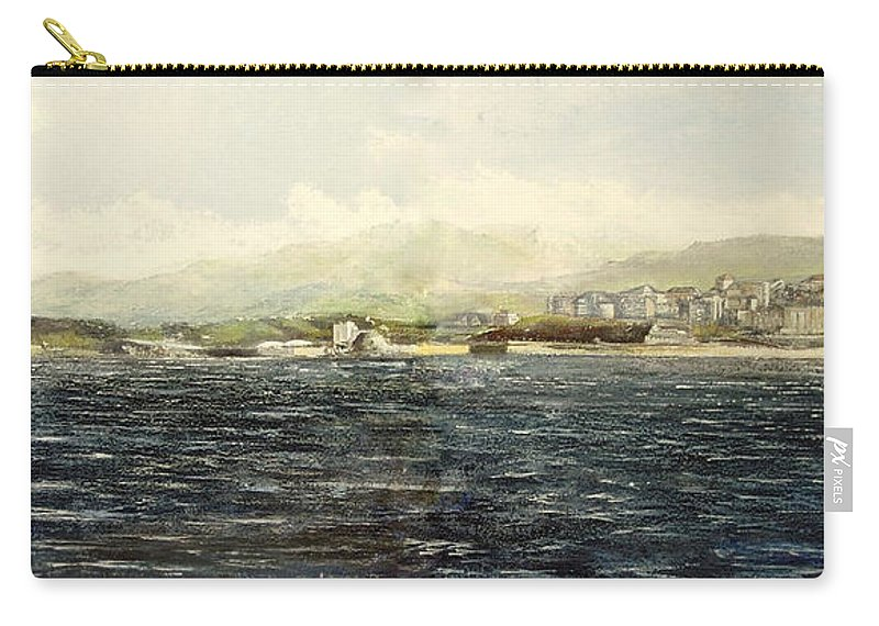 Sardinero Carry-all Pouch featuring the painting Sardinero y Magdalena by Tomas Castano