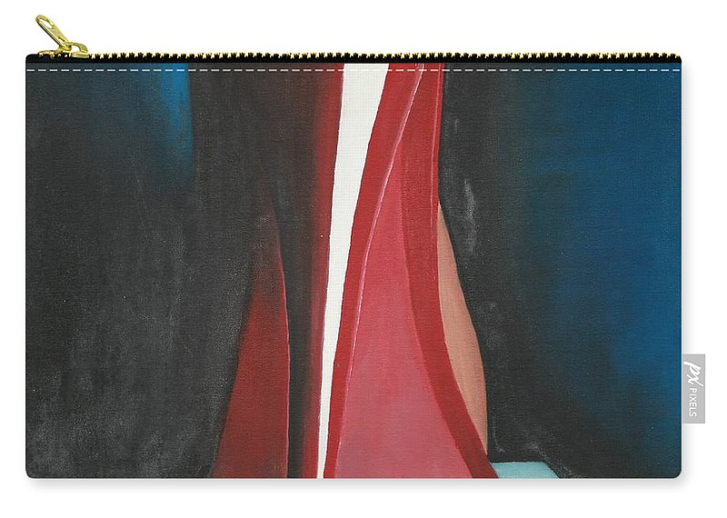 Sassy Shoe Carry-all Pouch featuring the painting Sassy Shoe by Jacqueline Athmann