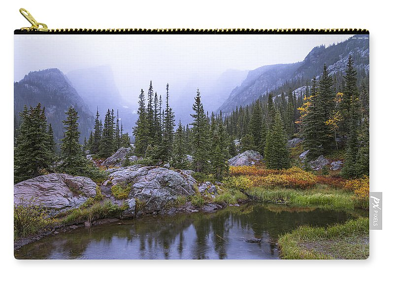 Saturated Forest Carry-all Pouch featuring the photograph Saturated Forest by Chad Dutson