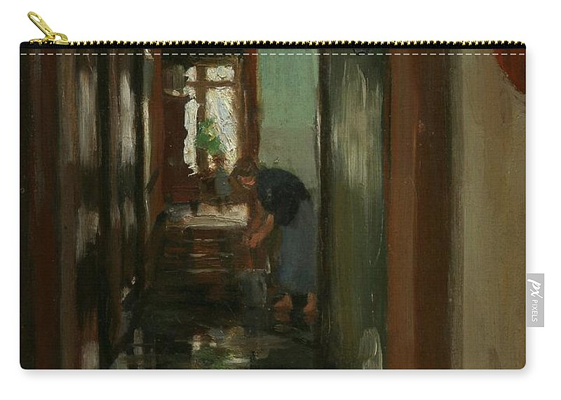 Weekend Carry-all Pouch featuring the painting Saturday An Interior View Of Garstin's Home by Norman Garstin