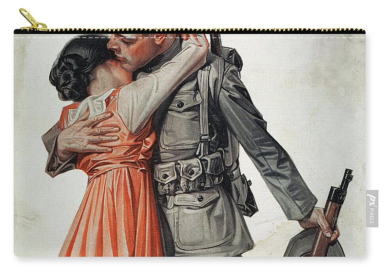 1917 Carry-all Pouch featuring the photograph Saturday Evening Post by Granger