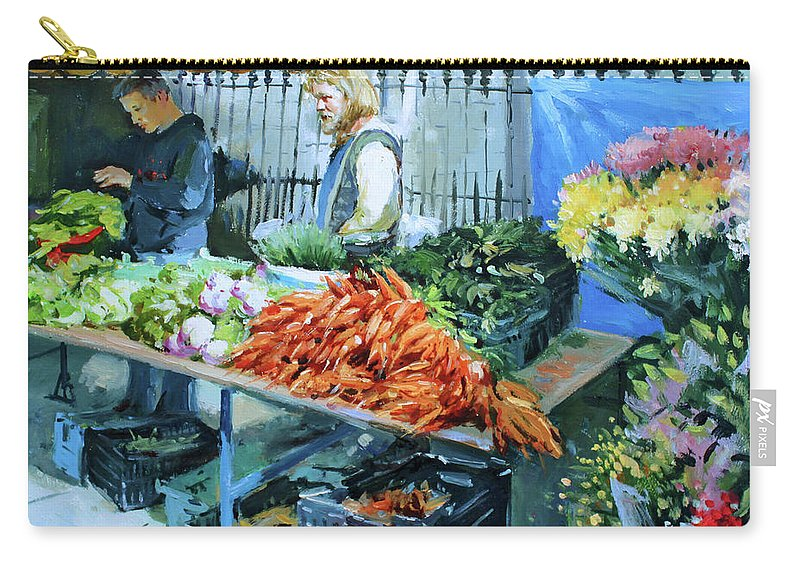 Galway Carry-all Pouch featuring the painting Saturday Market by Conor McGuire