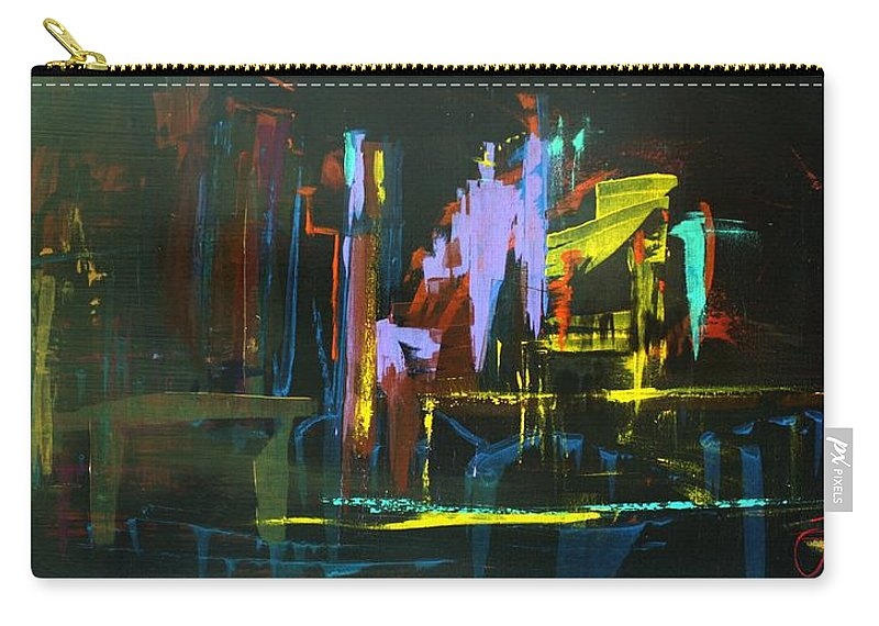 Saturday Night Carry-all Pouch featuring the painting Saturday Night by Jack Diamond