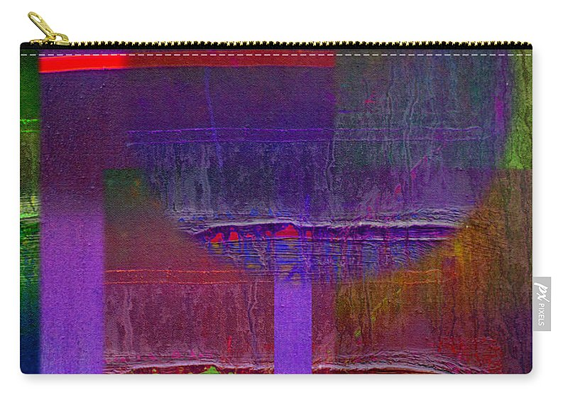 Landscape Carry-all Pouch featuring the painting Saturn Abstract by Charles Stuart