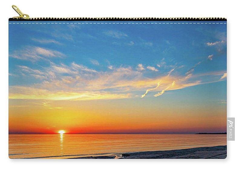 Steve Harrington Carry-all Pouch featuring the photograph Sauble Beach Sunset 5 by Steve Harrington