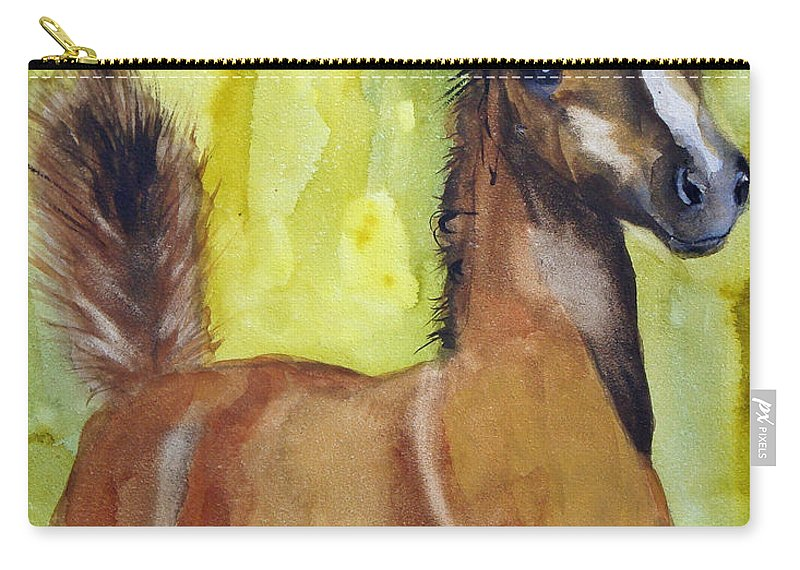 Filly Carry-all Pouch featuring the painting Saucy by Jean Blackmer