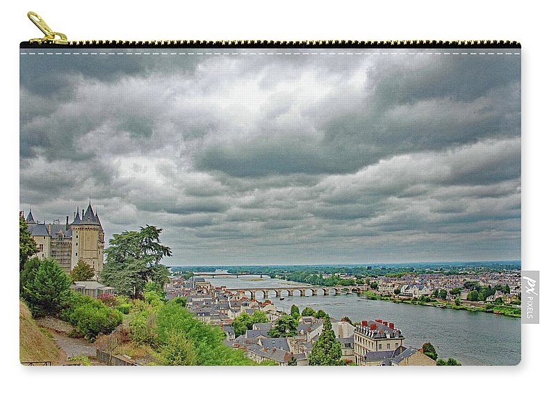 Saumur Carry-all Pouch featuring the photograph Saumur, Chateau, Loire, France by Curt Rush