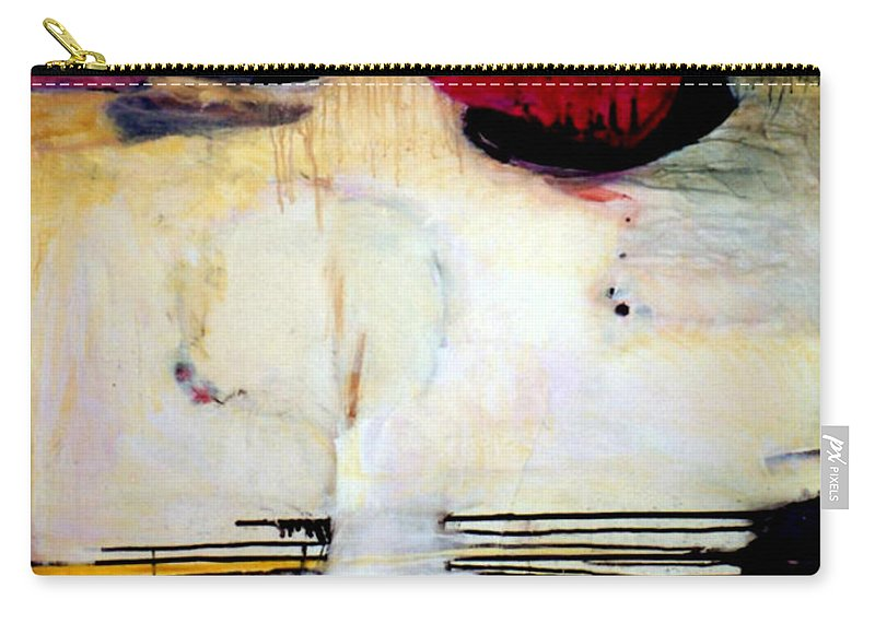 Abstract Carry-all Pouch featuring the mixed media Sausalito Leap Of Faith by Marlene Burns