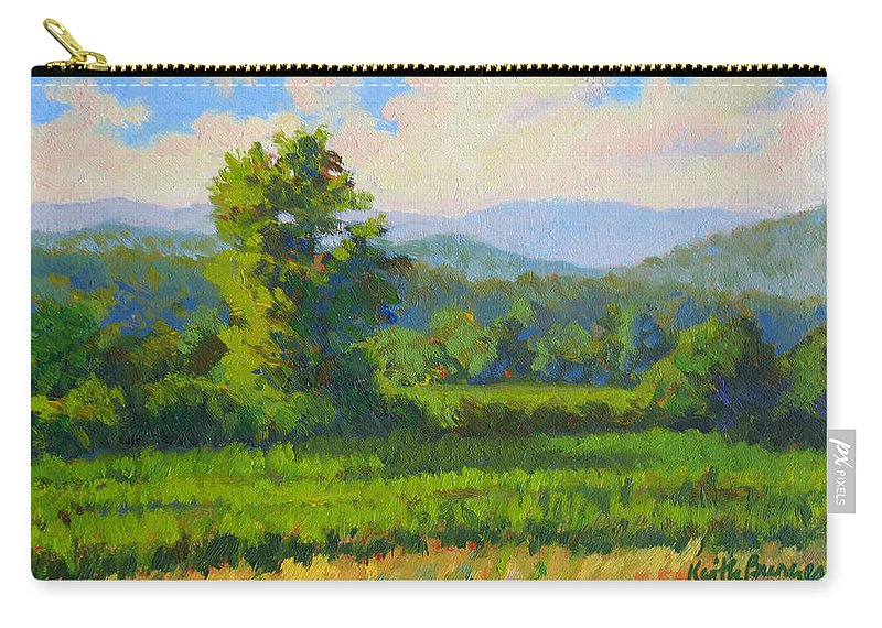Impressionism Carry-all Pouch featuring the painting Sautee Vista by Keith Burgess