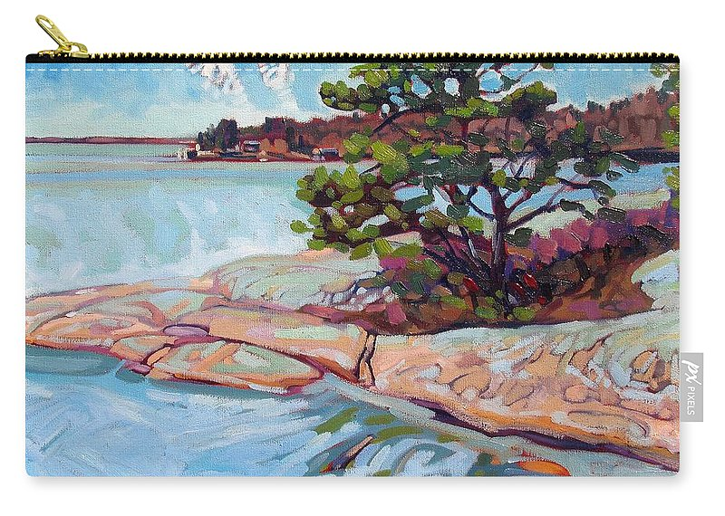 Savage Carry-all Pouch featuring the painting Savage Contrails by Phil Chadwick
