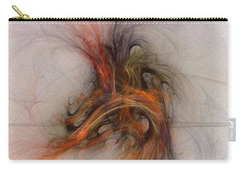 Saving Carry-all Pouch featuring the digital art Saving Omega - Fractal Art by NirvanaBlues