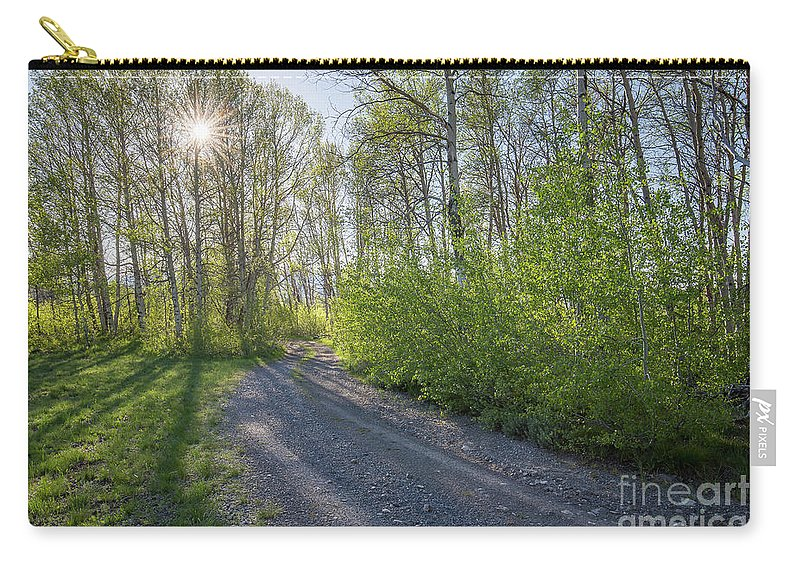 Boulder Mountains Carry-all Pouch featuring the photograph Sawtooth Road by Idaho Scenic Images Linda Lantzy