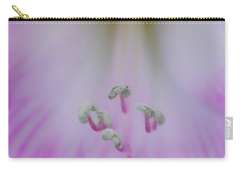 Flower Carry-all Pouch featuring the photograph Say Ahhh by Donna Blackhall