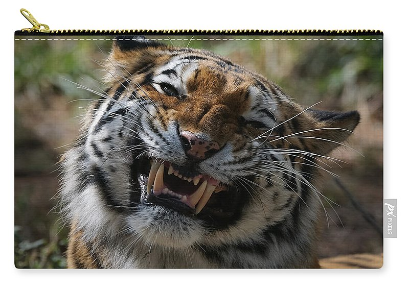 Tiger Carry-all Pouch featuring the photograph Say Cheese by Ernie Echols